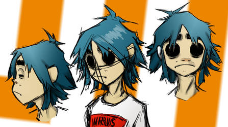 2D facesketches colored