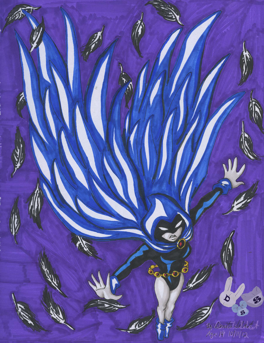 The Wings of Raven (Teen Titans GO!!!) by BetaoftheBass