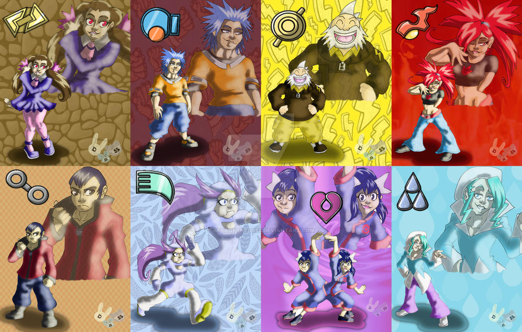 Pokemon gym leaders gen 3 by betaofthebass on deviantart pokemon gym leaders gen 3 by betaofthebass sciox Image collections