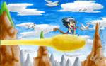 Kid Goku on an Epic Adventure by BetaoftheBass