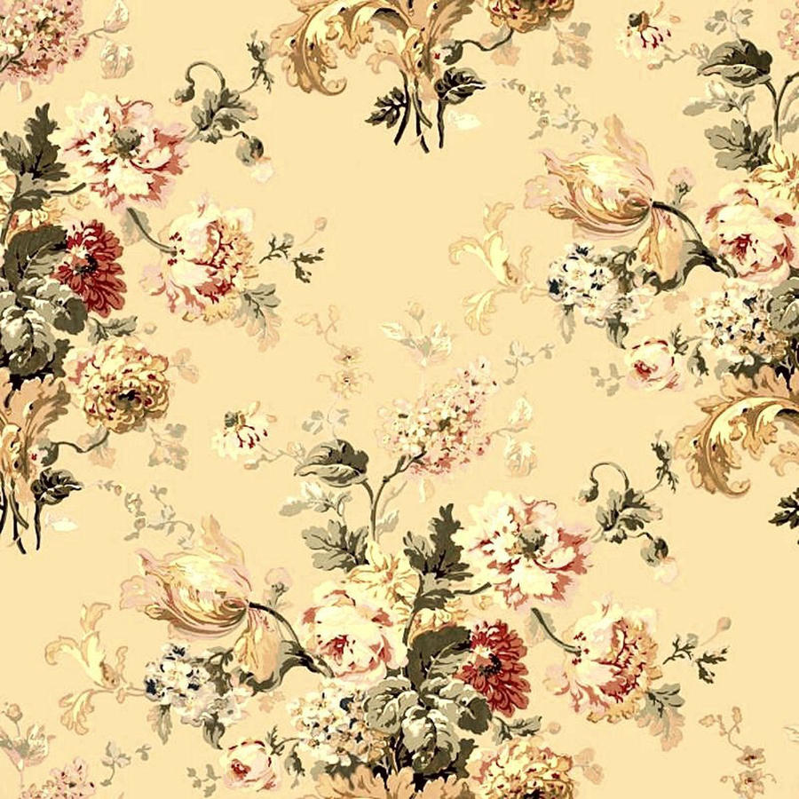 Yellow Flowers Background Vintage Comousar