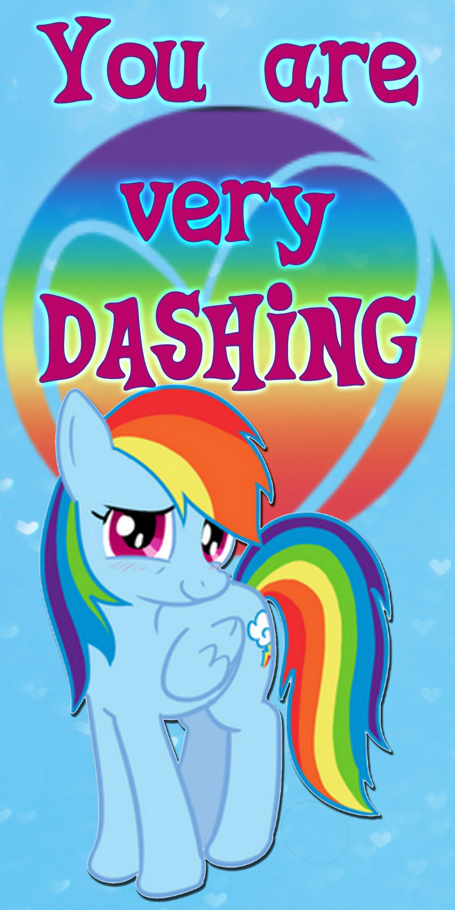 Rainbow Dash Valentine's Day Card by Kurenai-Hio