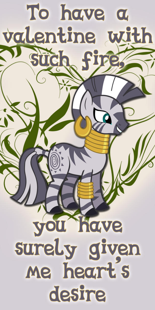 Zecora Valentine Day Card by Kurenai-Hio
