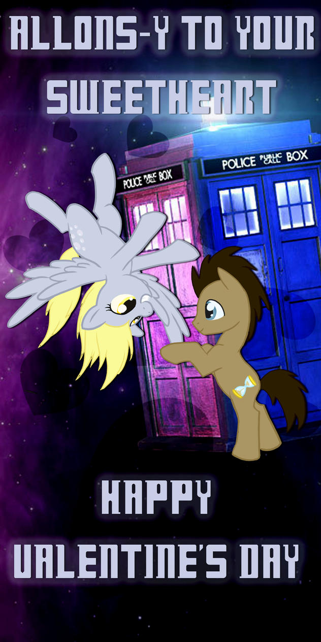 Dr. Whooves and Derpy Valentine by Kurenai-Hio