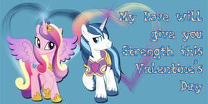 Princess Cadance and Shining Armor Valentine Card
