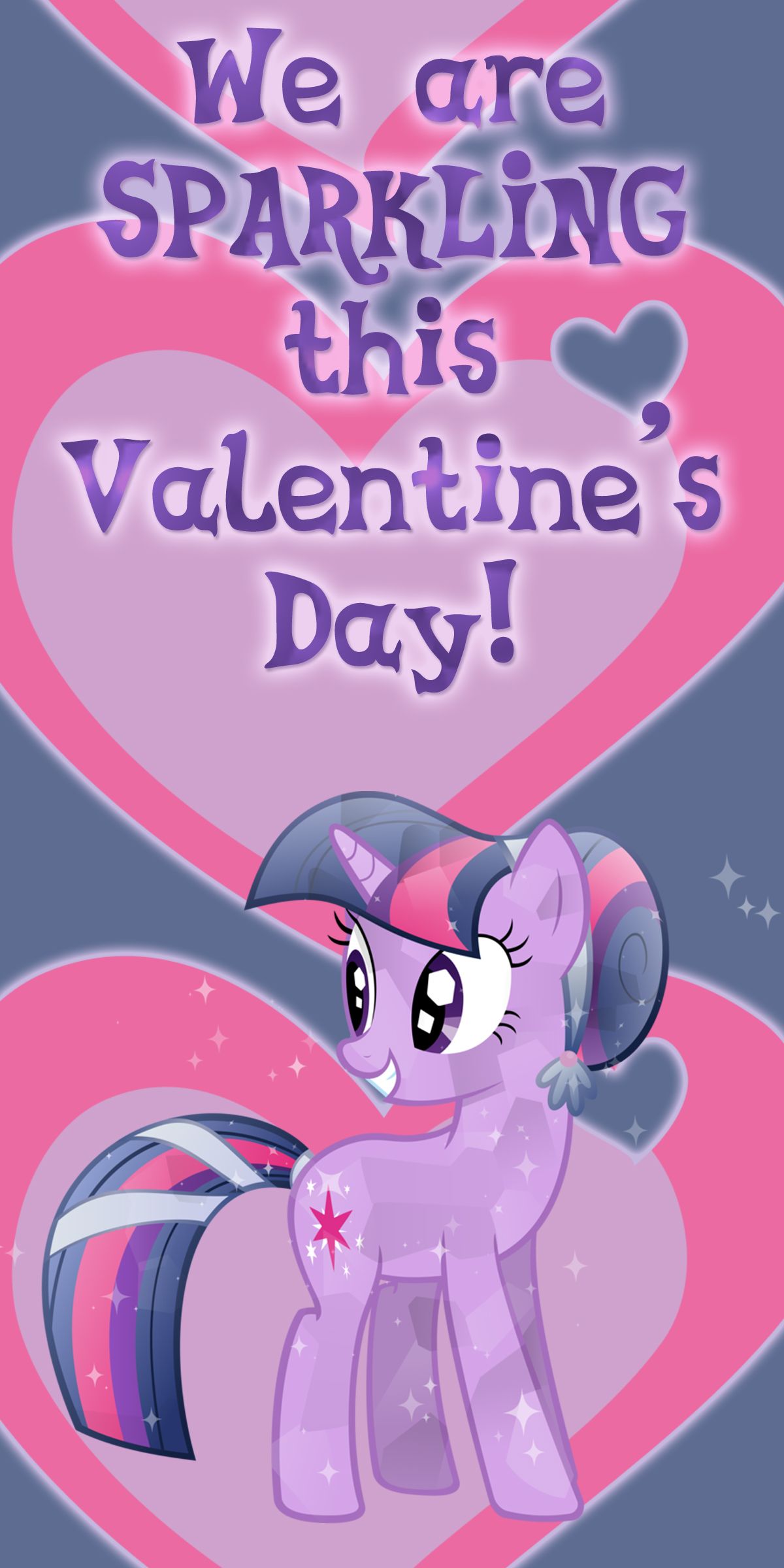 Crystal Twilight Sparkle Valentine Card by Kurenai-Hio