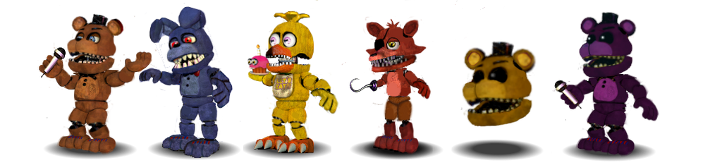 Fnaf 2 Unwithered Animatronics Canon by Educraft on DeviantArt