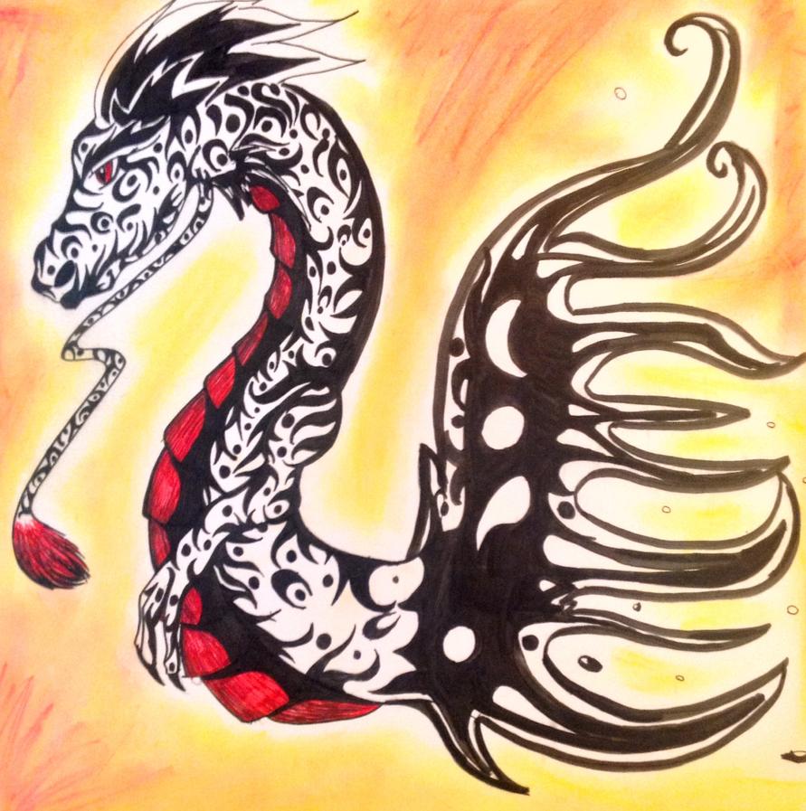 Dragon decal by Lovelessdeception