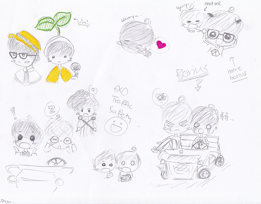 Exo Traffic Safety Song Fanart By Storybookwitch