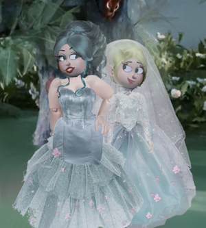 A wedding portrait of the new Queens