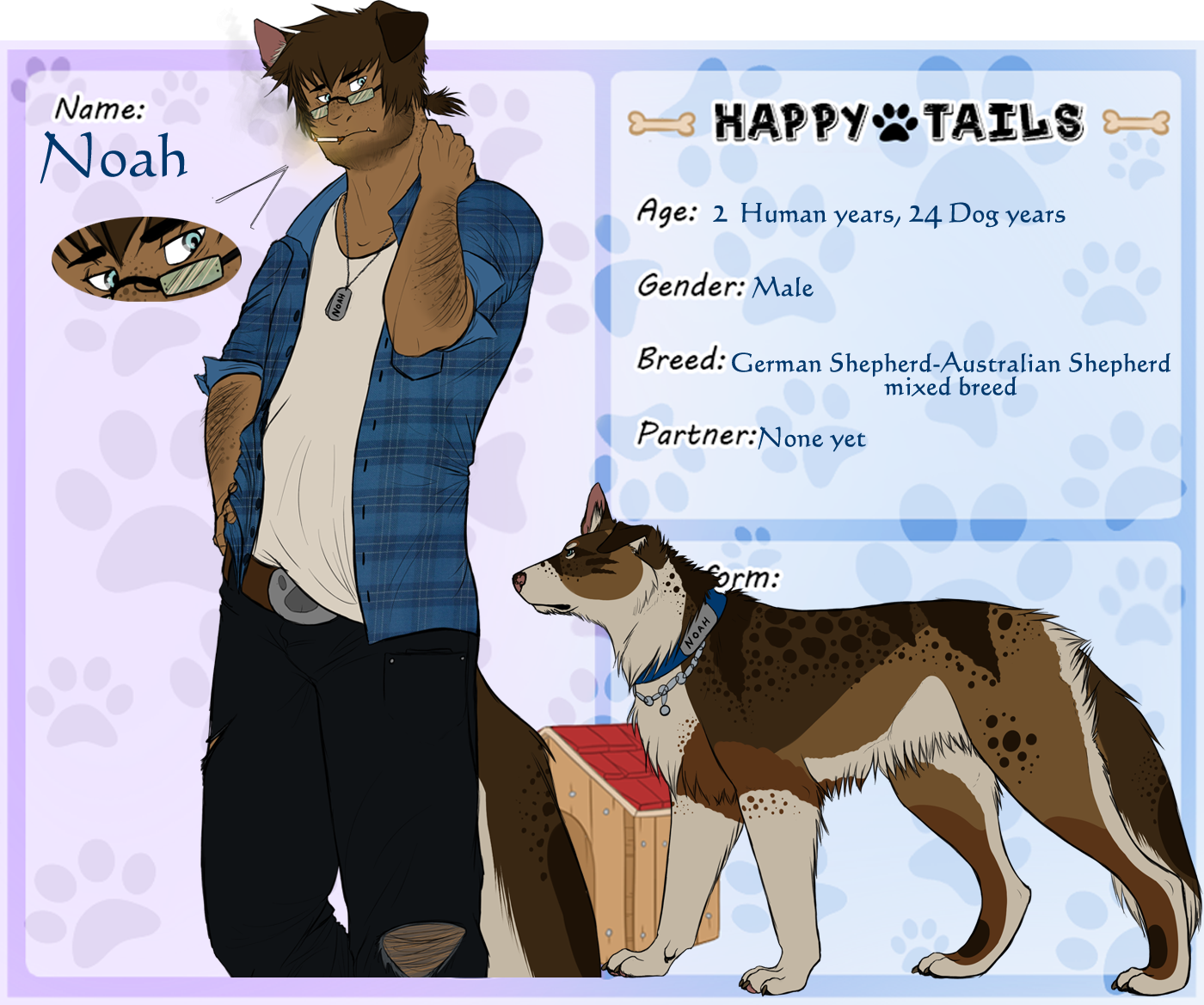 Happy Tails: Noah the Shepherd by Rininiri