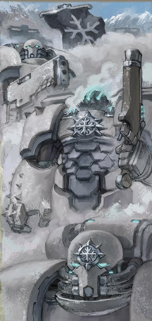 Fanart Friday # 20 - WH40K - Frost Knights by nehsan-darke