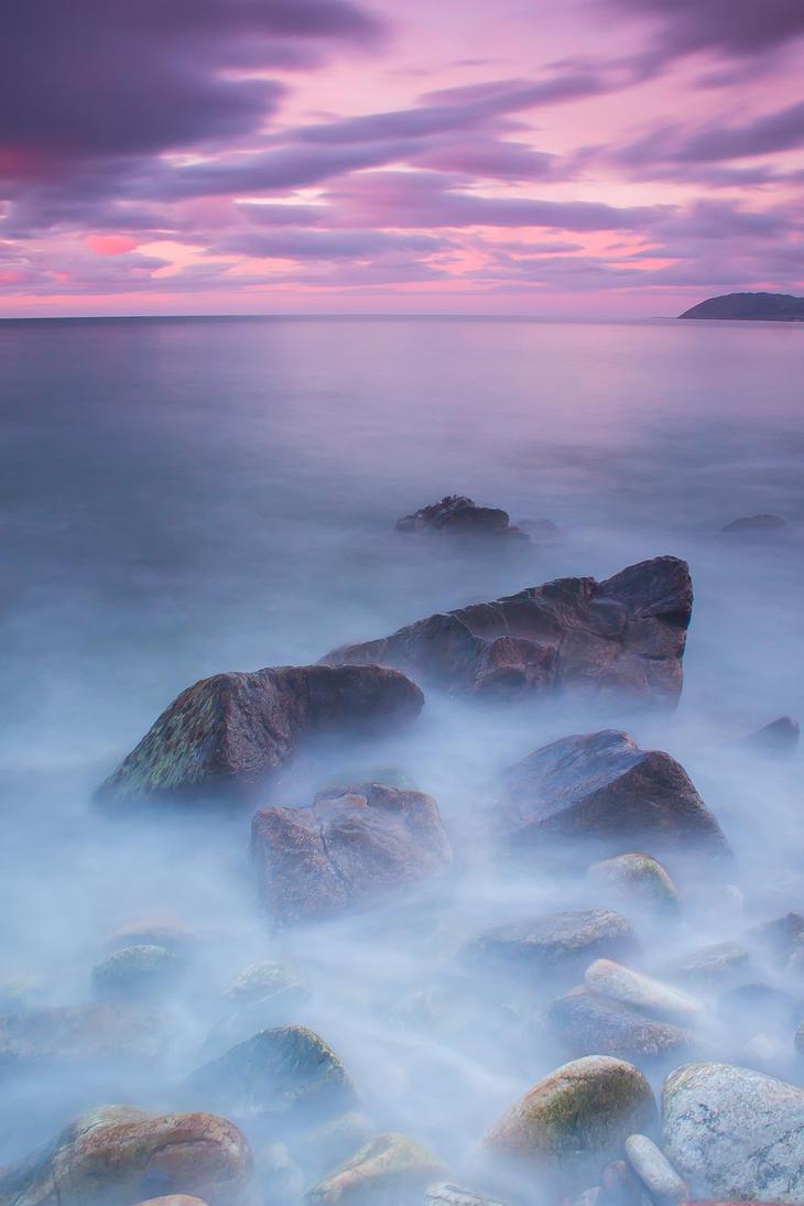 Sea at sunrise by Wanowicz