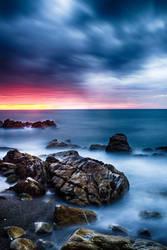 Lost in blue sunrise by Wanowicz