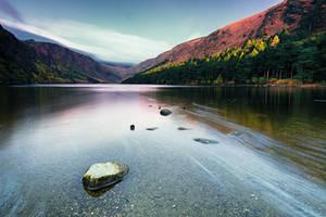 Lake in autumn colours by Wanowicz