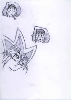 YGO - Anzu and Yuugi