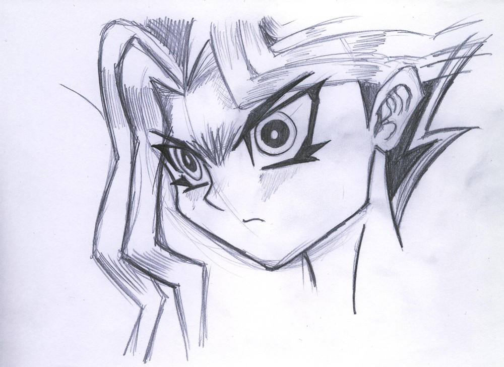 YGO - Angry Yami by Obabscribbler