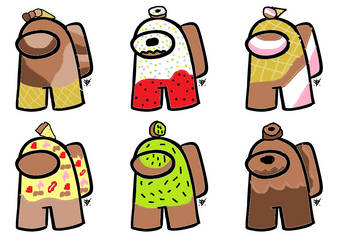 Food Imposters Sheet 1- 2 pts each (2 Left) by Yum-Adopts
