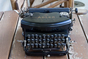 Adler old typewriter by Megan-Arts