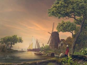 Across the sea by Megan-Arts