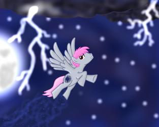 Shadow Star(OC) into storm by DragonsCz