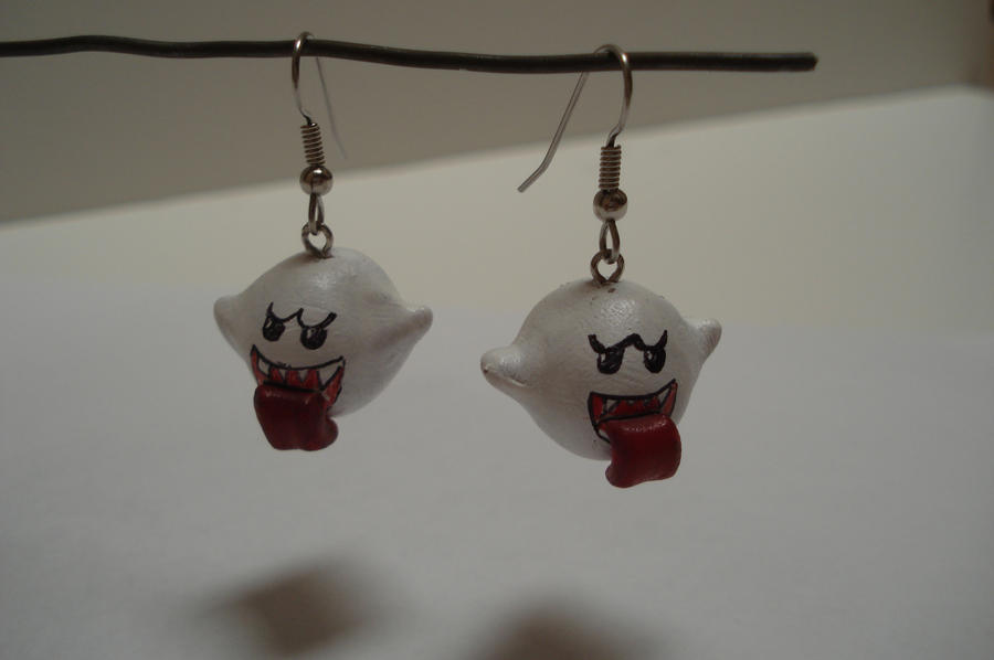Boo earrings by ArtNinja101
