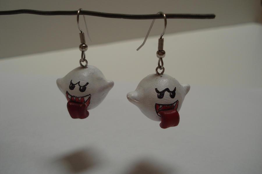 Boo earrings by ArtNinja101