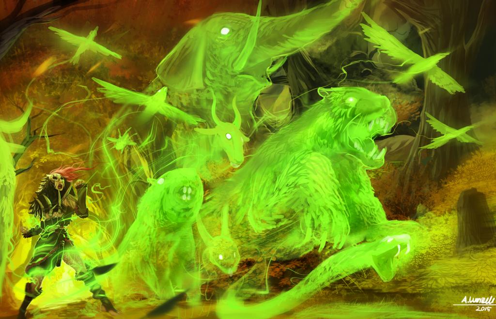 Green Mana - Edria by Ishton