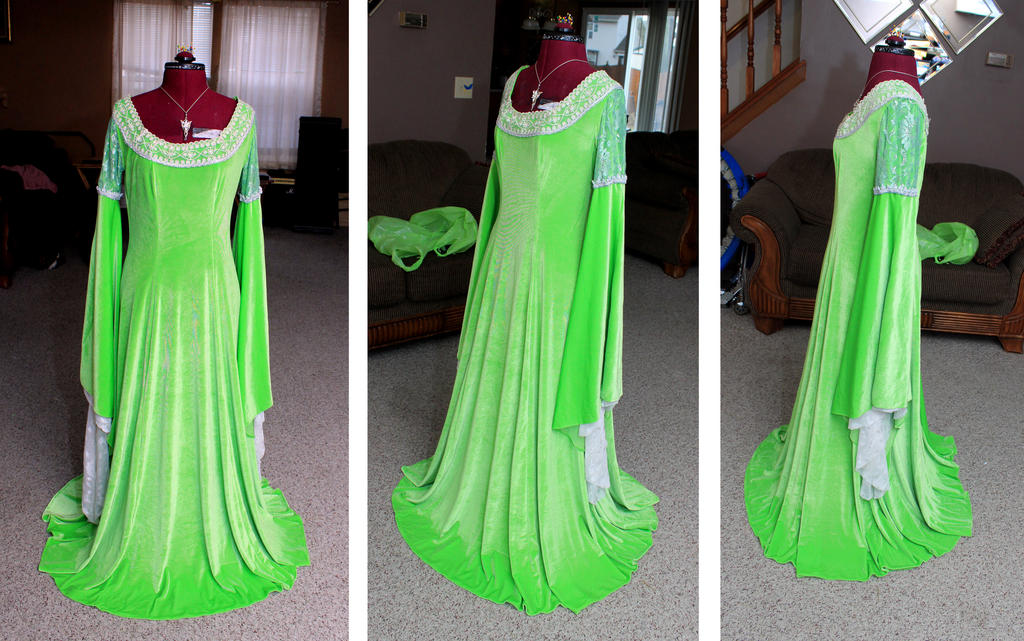 Arwen Coronation gown by FinalFantasyCosplays