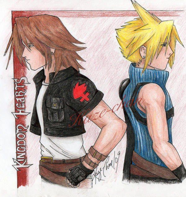 Leon and Cloud by Kaze-Chan