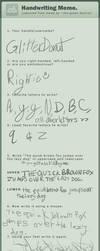 Handwriting Meme 2! 8D by GlazedUnicorns