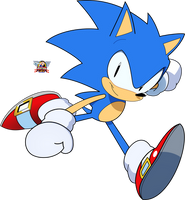 Sonic The Hedgehog Drawing by PhillLord