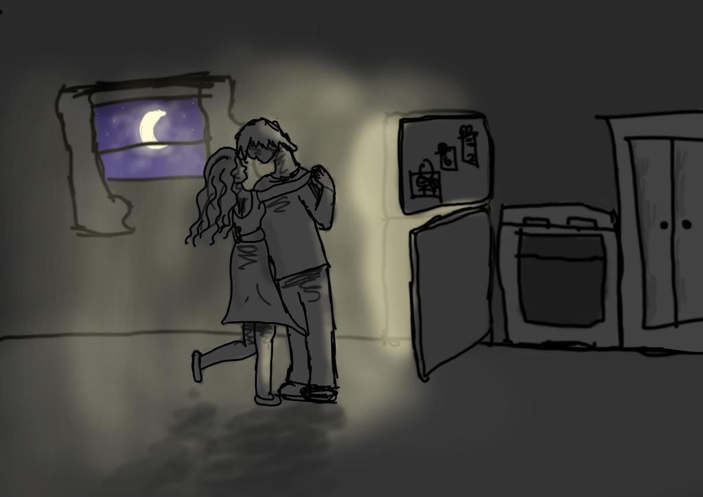 Dancing in the refridgerator light by ayla307