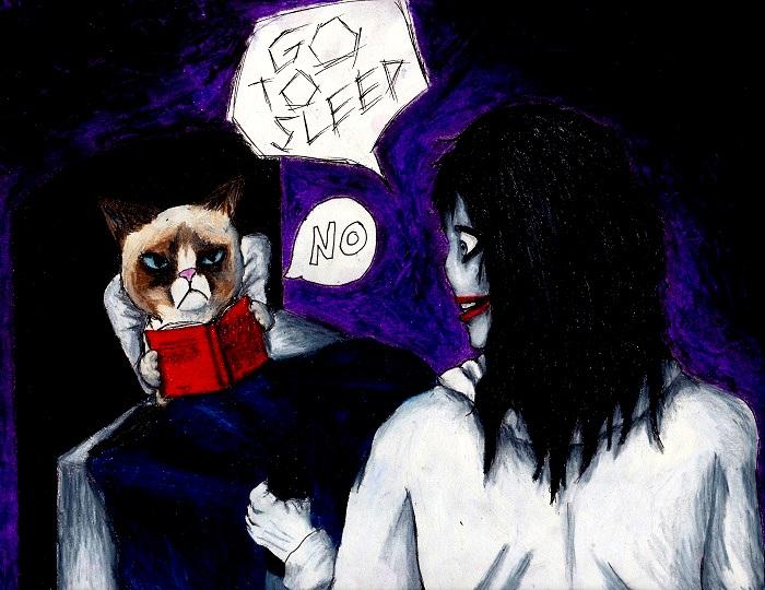 AG: Grumpy Cat vs Jeff the Killer by Destiny-Kaspar on ... H20 Delirious Drawings