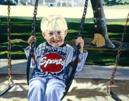 Boy On Swing by ShellzArt
