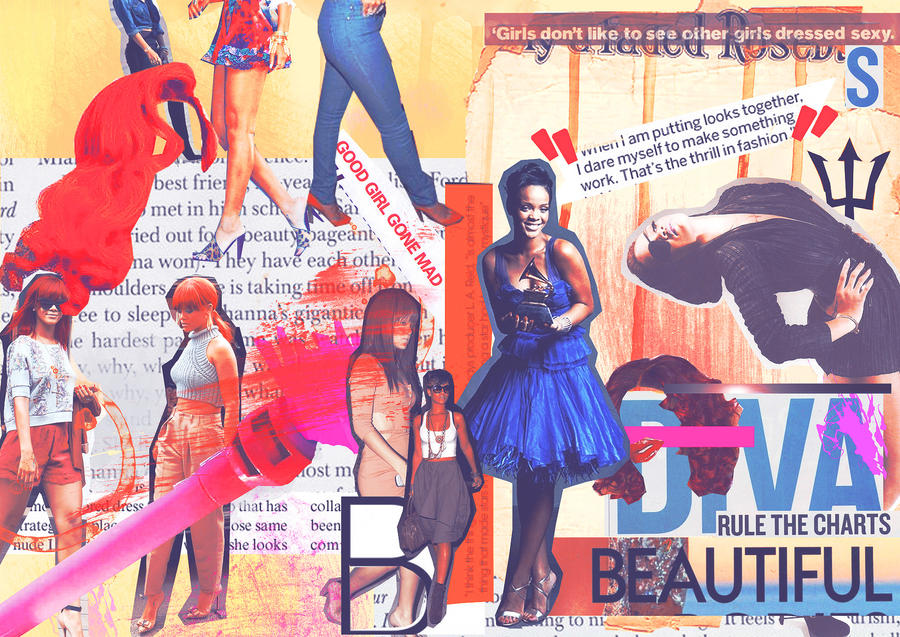 Rihanna Collage Backgrounds Rihanna collage by