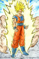 Goku super saiyan by black3