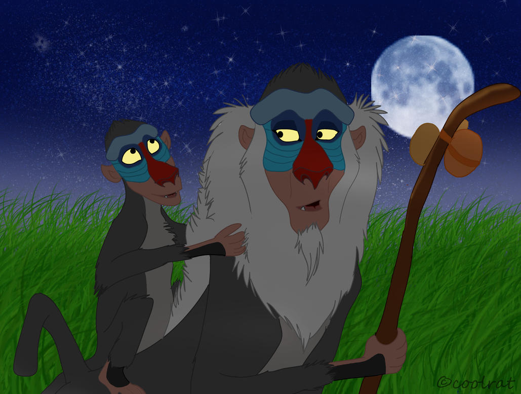 rafiki and father by coolrat