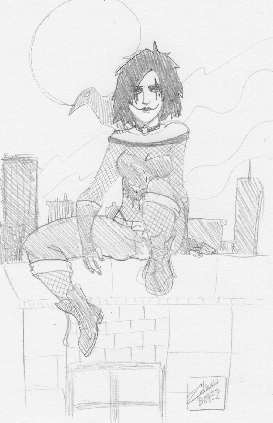 Daily sketch 6 Female Crow
