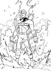 Marvelman WIP( ink ) by madedd