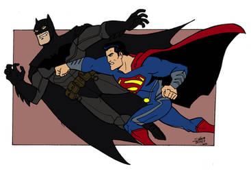 Batman vs Superman by madedd