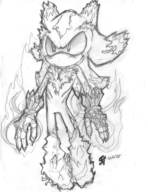 sonic mephiles coloring pages - photo#8