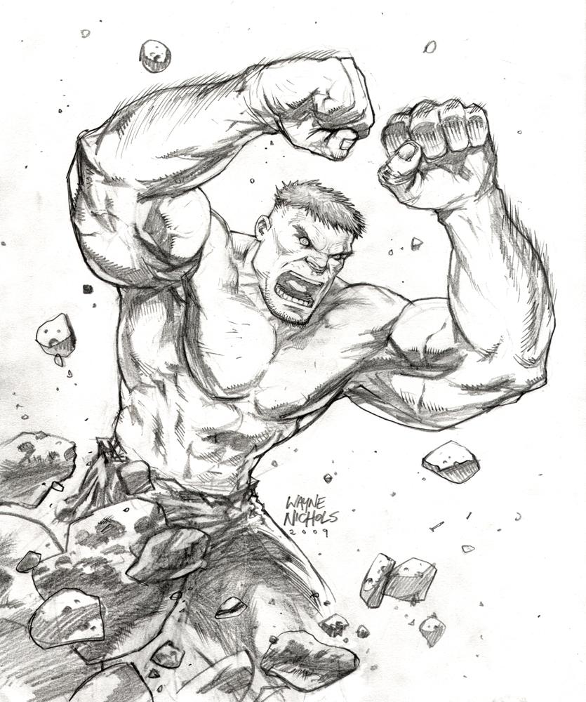Supanova 09 Commission_Hulk by FlowComa