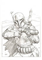 Boba Fett Commission by FlowComa