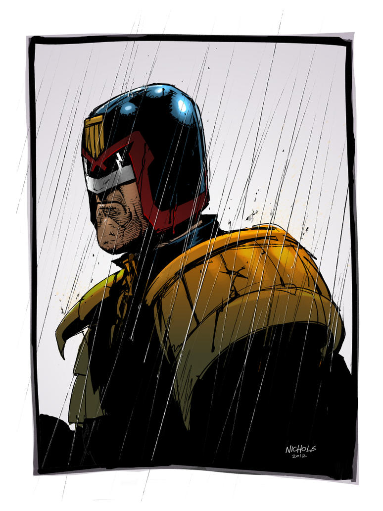 Dredd sketch by FlowComa