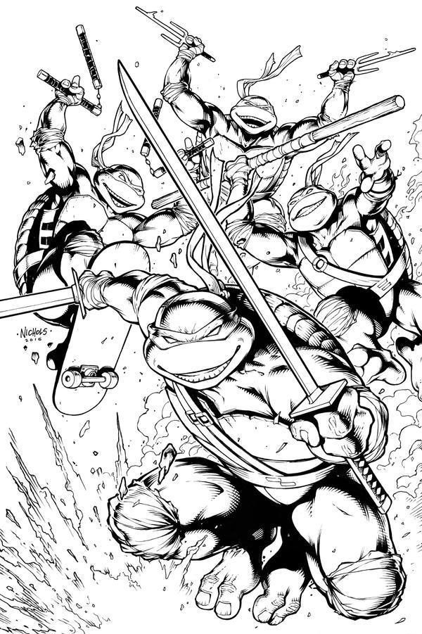 Teenage Mutant Ninja Turtles by FlowComa