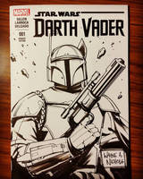 Darth Vader #1 Boba Fett sketch cover by FlowComa