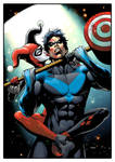 A crazy kinda love. Harley and Nightwing.