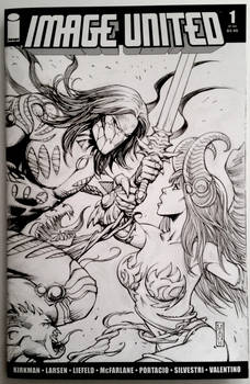 The Darkness VS Angelus sketch cover
