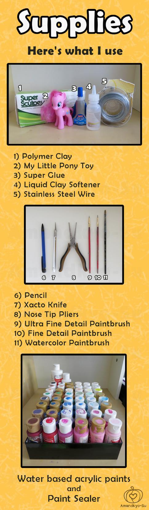 My Little Pony Custom Guide - Supplies by Amandkyo-Su
